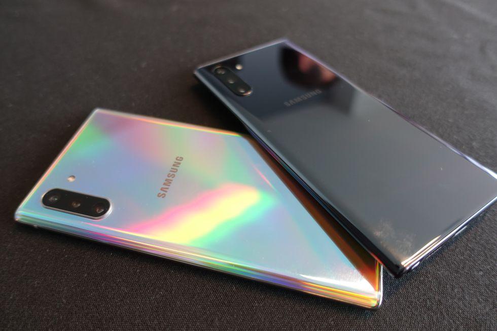 Samsung Galaxy Note 10 y 10+. Foto: El Comercio.