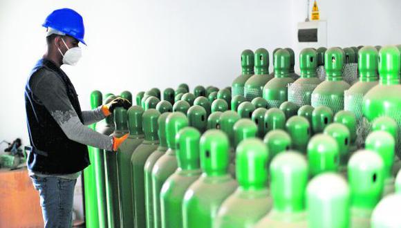 Estos balones serán suministrados en la planta generadora de oxígeno medicinal que se encuentra ubicado en el Hospital de Contingencia de la región (Foto: Archivo GEC)