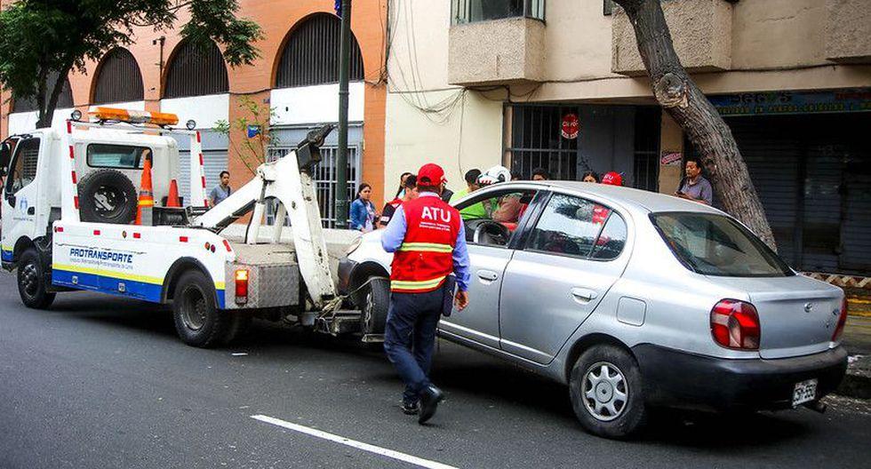 Luego de la intervención, las unidades fueron internadas en el depósito municipal y su conductores recibieron las multas correspondientes (Foto: ATU)