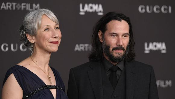 Alexandra Grant y Keanu Reeves en el 2019 LACMA Art + Film Gala. (Foto: AFP)