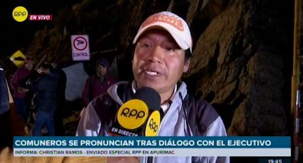 Las Bambas: Pese al acuerdo los comuneros anunciaron que no desbloquearán las vías hacia la mina. (Foto: Captura)