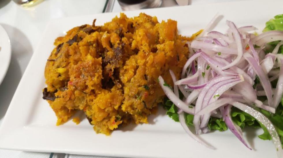 El seco de chavelo es uno de los platos más ricos de Piura. La foto se tomó en el restaurante Los Piuranos.