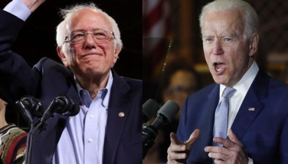 Sanders y Biden son los precandidatos demócratas más populares. (Foto: Reuters).