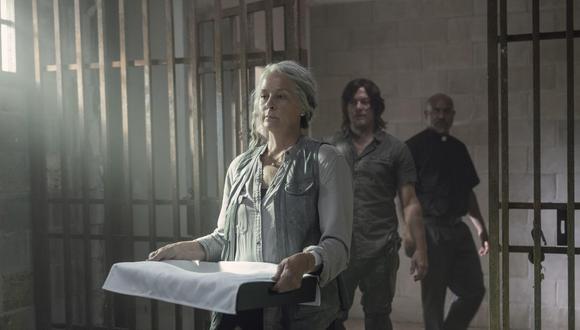 """Carol (Melissa McBride), Daryl (Norman Reedus) y Gabriel (Seth Gilliam) en el episodio 10x07 de """"The Walking Dead"""". Foto: Fox."""