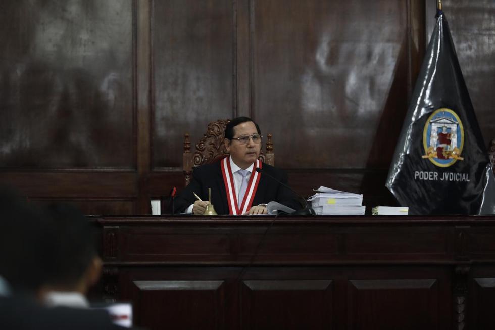 El juez Hugo Núñez Julca dirigió la audiencia de control de acusación contra Kenji Fujimori y otros tres investigados. (Foto: Leandro Britto / GEC)