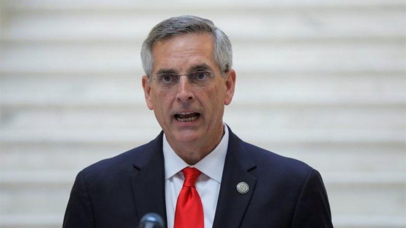 El secretario de Estado de Georgia , Brad Raffensperger, anunció que el recuento de votos sostiene el triunfo de Biden en el estado. (Foto: Reuters).