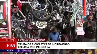 Lima: aumenta la venta de bicicletas tras pandemia de coronavirus