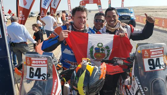 Vellutino y Burga en el final de la etapa. (Foto: Juan Valdivia)