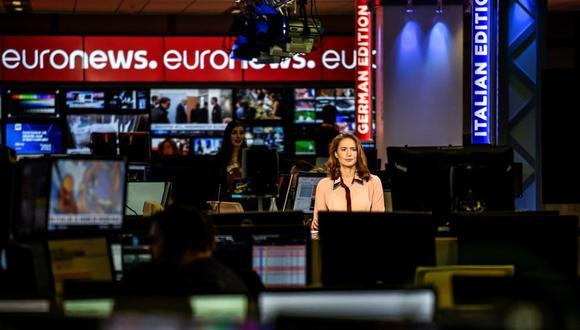 Euronews sería sustituido por una programación de producción rusa sobre la Segunda Guerra Mundial. (Foto: JEAN-PHILIPPE KSIAZEK / AFP)