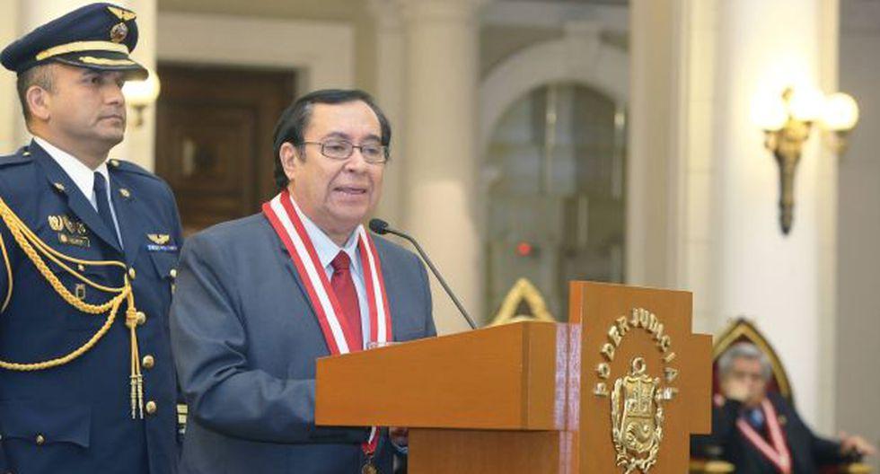 El presidente del Poder Judicial, Víctor Prado, aseguró que en su breve mandato establecerá las bases de la reforma de su sector. (Foto: Poder Judicial)
