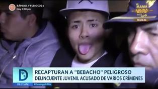 """Recapturan a """"Bebacho"""", temible delincuente juvenil"""