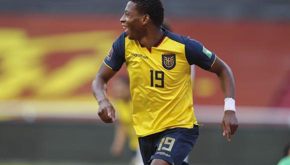 Gonzalo Plata anotó el 4-0 de Ecuador. (Foto: AFP)