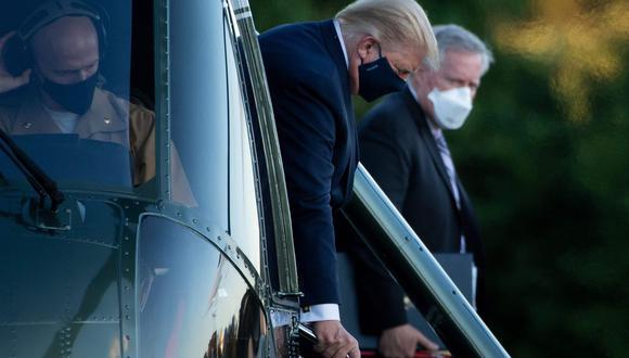 El presidente de los Estados Unidos, Donald Trump, dio positivo por coronavirus el último jueves. (AFP/Brendan Smialowski).