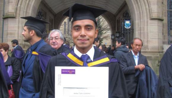Joven peruano obtuvo primer puesto en Universidad de Manchester