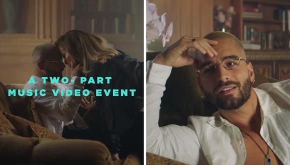 """Jennifer Lopez y Maluma explotan las redes sociales con avance de su nueva colaboración """"Pa' ti/ Lonely"""". (Fotos: Instagram: @maluma)."""