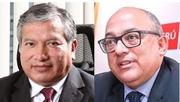 Víctor Murillo, ex jefe del Proyecto Fise (a la izquierda), reemplaza a Eduardo Guevara en el viceministerio de hidrocarburos.