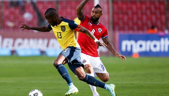 Ecuador empató con Chile en las Eliminatorias Qatar 2022. FOTO: Conmebol.