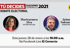Candidatos al Congreso de Acción Popular y Avanza País debaten este jueves en El Comercio