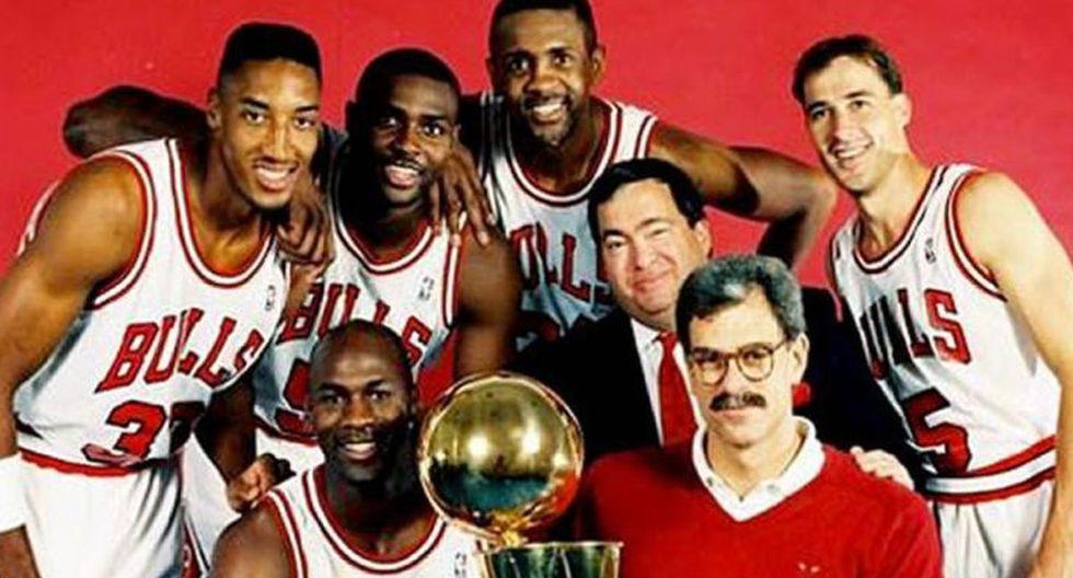 Horace Grant, en la imagen detrás de Michael Jordan, ganó tres campeonatos de la NBA con los Chicago Bulls. (Foto: HoraceGrant.com)