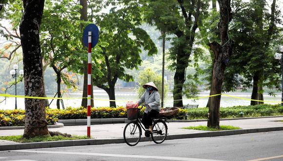 Una desértica calle de Vietnam por el confinamiento anticoronavirus. EFE