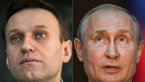 """A pesar de las evidencias mostradas por los medios internacionales sobre el intento de envenenamiento de Alexei Navalny, el presidente ruso Vladimir Putin sostiene que la investigación presentada por CNN y Bellingcat forma parte de una """"guerra de información"""". (Foto: AFP)"""