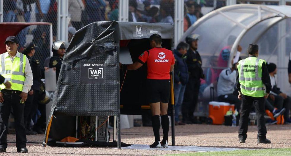 El VAR debutó en el fútbol peruano en la primera final entre Alianza Lima y Binacional disputada en Juliaca. (Foto: GEC)