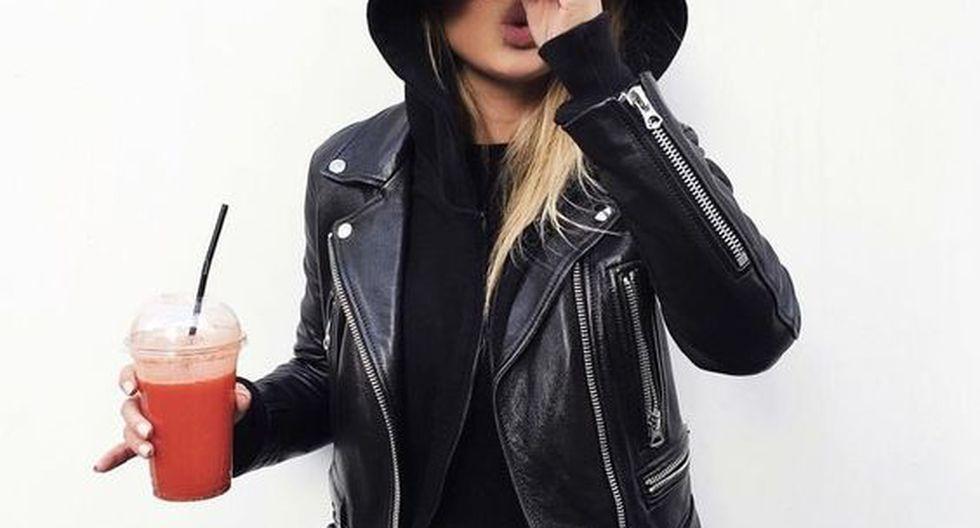 Las casacas de cuero serán las estrellas en esta temporada de frío. (Foto: Pinterest ShopStyle)