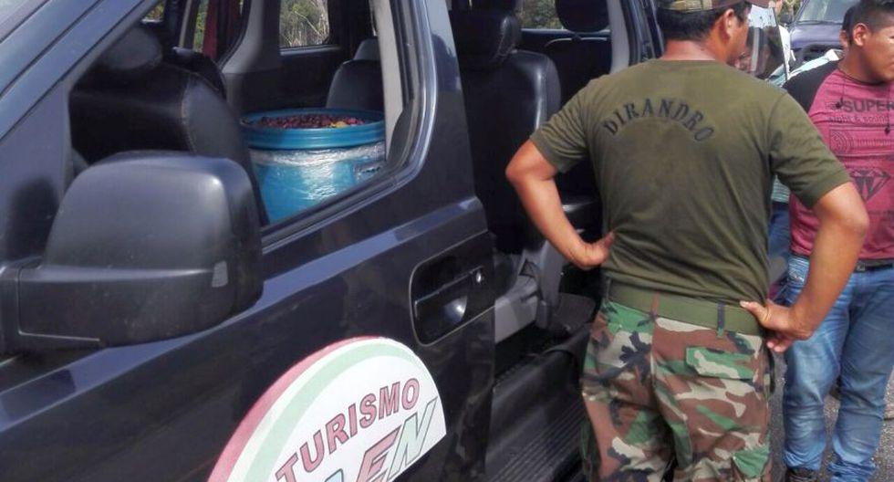 La droga se halló en una intervención realizada en el kilómetro 90 de la carretera Nauta – Iquitos (Loreto). (Foto: Cortesía)