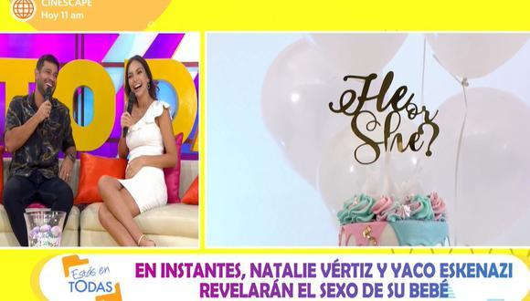 Natalie Vértiz y Yaco Eskenazi revelaron el sexo de su segundo bebé. (Foto: Captura de video)