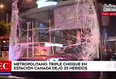 Metropolitano: triple coque dejó 25 heridos