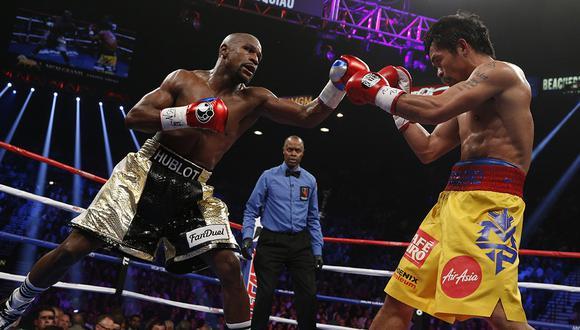 La revancha de la pelea que más ingresos generó entre Manny Pacquiao y Floyd Mayweather, no se dará. (Foto: AFP)