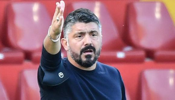 Gennaro Gattuso destacó la importancia de Maradona para la ciudad del equipo al que dirige. (Foto: AFP)