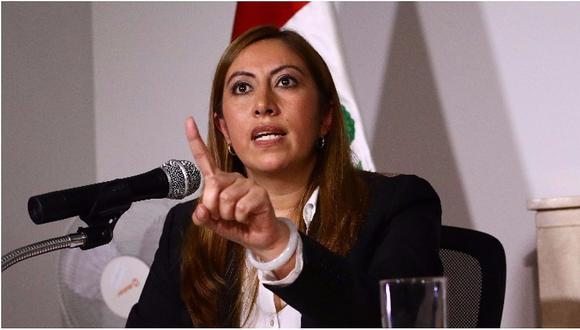 """Katherine Ampuero sostiene que hubo """"una conversación"""" para asumir como Procuradora General (Foto: GEC)"""