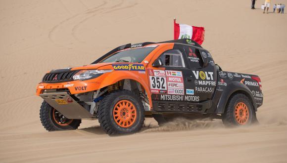 Francisco León compite con una Mitsubishi L200 4x4. (Foto: ITEA Photo)