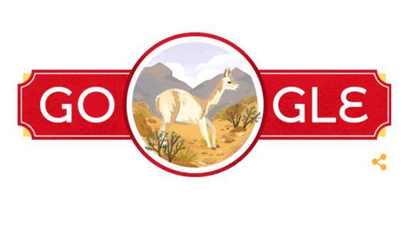 Este doodle tiene la ilustración una vicuña con un fondo de los andes peruanos. (Google)