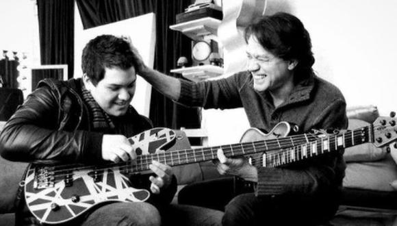 Wolfgang y su fallecido padre Eddie Van Halen. (Foto:  @wolfvanhalen)