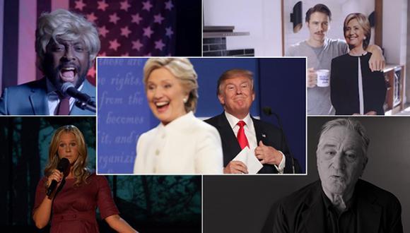 Trump vs. Hillary: ¿A quién apoyan las celebridades?