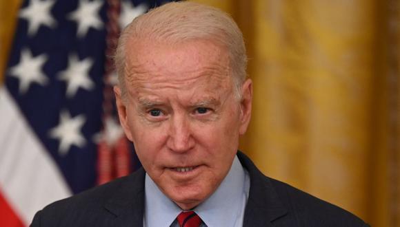 El presidente de Estados Unidos, Joe Biden, habla sobre el acuerdo de infraestructura desde el East Room de la Casa Blanca en Washington, DC, el 24 de junio de 2021. (Foto de Jim WATSON / AFP).