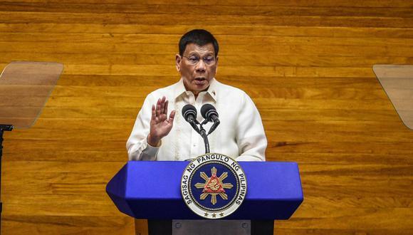 """""""Cuanto al principio dije que terminaría con las drogas en seis meses, pensé que sería como en Davao"""", dijo Duterte, en referencia a la ciudad en la que, como alcalde, se ganó la fama de antídoto contra la delincuencia por la dureza de sus medidas. (Foto: Jam Sta Rosa / AFP)"""