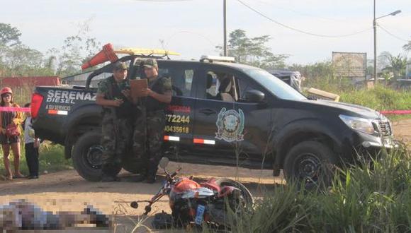 Ataque ocurrió en la Av. Mariano Conza, en el asentamiento humano Bello Horizonte del centro poblado menor El Triunfo. (Foto: Manuel Calloquispe)