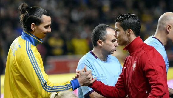 Cristiano Ronaldo y Zlatan Ibrahimovic son inmortales, según el entrenador Carlo Ancelotti. (Foto: AFP)