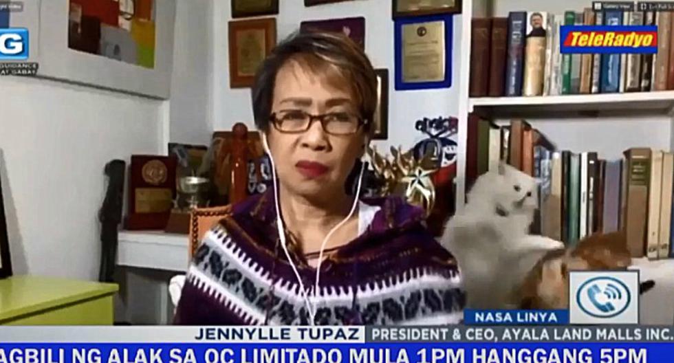 Las imágenes publicadas en redes sociales demuestran que la presentadora intentó voltear a ver qué es lo que pasaba. (Foto: DZMM TeleRadyo)