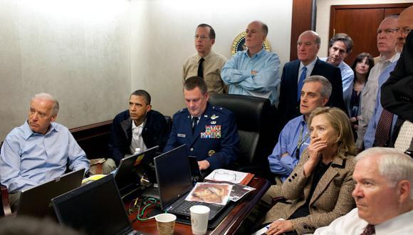 El presidente de Estados Unidos, Barack Obama, y sus más cercanos colaboradores siguen en tiempo real la operación en Pakistán contra Osama Bin Laden. (AFP).