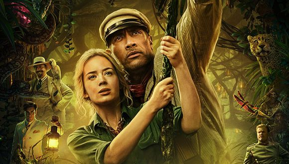 "Dwayne Johnson y Emily Blunt son los protagonista de ""Jungle Cruise"". (Foto: Disney)"