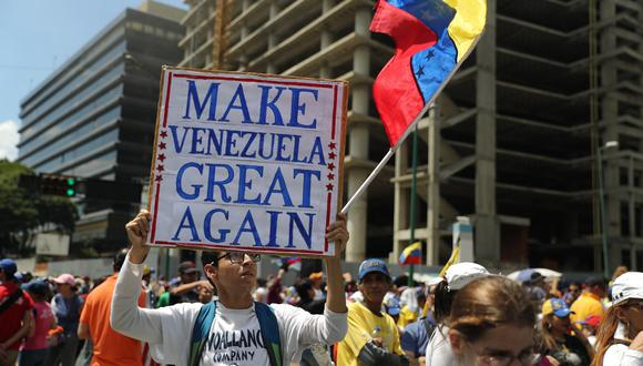 Las protestas continúan en Venezuela contra el régimen de Maduro. (Foto: EFE)