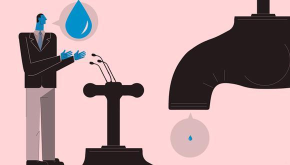 """""""Según el Plan Nacional de Infraestructura para la Competitividad (PNIC), se requiere invertir S/95.789 millones para alcanzar en los niveles de acceso básico a agua y saneamiento que muestran los países de la OCDE"""" Ilustración: Jean izquierdo)."""