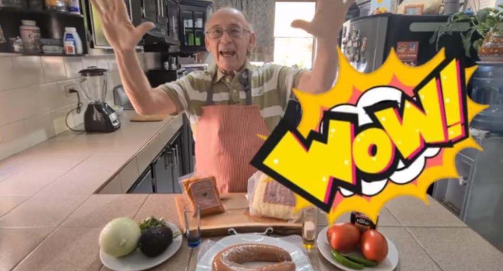 Un abuelito se quedó sin trabajo durante la pandemia y se animó a convertirse en un youtuber que enseña a cocinar a sus seguidores. (Fotos: Tito Charly en YouTube)