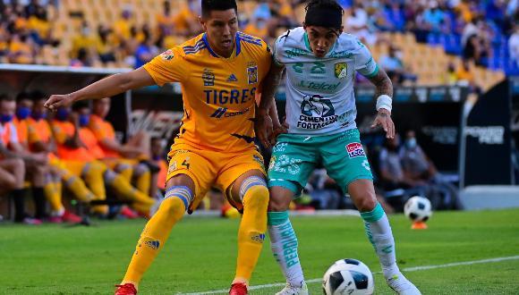 Tigres UANL y León igualaron por la octava jornada del Torneo Apertura 2021 de la Liga MX en el Estadio Universitario.