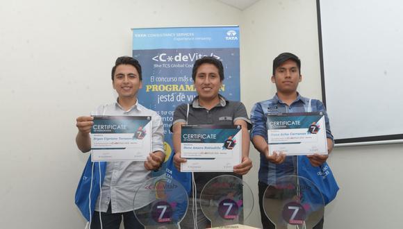 Ellos viajarán hasta Mumbai (India) para conseguir el primer lugar y los diez mil dólares como premio. (Foto: Andina)