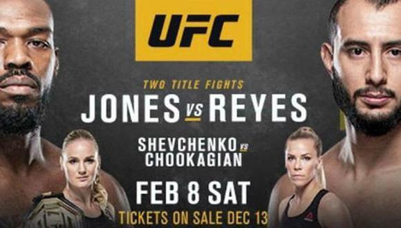 UFC 247 EN VIVO VER Jones vs Reyes por FOX ACTION mira las peleas EN DIRECTO con Valentina Shevchenko vs Katlyn Chookagian en Texas. (UFC)